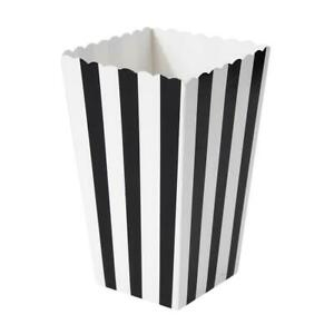 12pcs Favor Candy Treat Popcorn Boxes for Wedding Party Supply(Black)