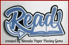 READ SCHOOL title paper piecing for Premade Scrapbook Pages ALBUM  by Rhonda