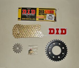 DID Gold Heavy Duty 428 Chain And JT Sprocket Upgrade Kit Honda MSX125 Grom