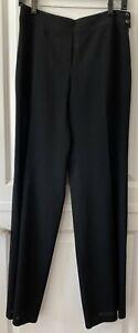 Emporio Armani Women's 100% Virgin Wool Black Pants Size 8
