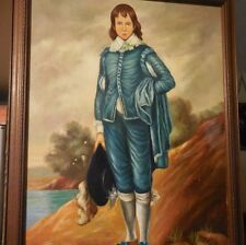 Painting on Canvas of BLUE BOY by Thomas Gainsborough redone by Liell Napoli 60'
