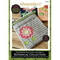 KIMBERBELL Machine Embroidery CD: Crossbody Bag Trio Vol 2 Botanical Collection