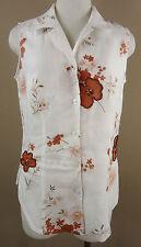 Geblümte hüftlange Damenblusen, - tops & -shirts aus Leinen für die Freizeit