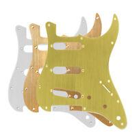 Aluminium Metall Strat SSS Gitarre Schlagbrett 11 Löcher + Schrauben für Strat
