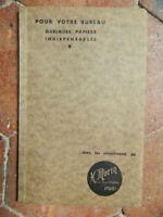 CATALOGUE MORIN spécimens et tarif papiers divers tête de lettre 1936