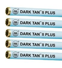 Tanning Bed Lamps Bulbs Dark Tan II Plus with Starters, Polish and Disinfectant