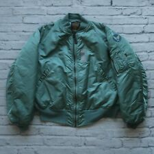 Vintage 90s Alpha Industries MA-1 USAF Flight Bomber Jacket Made in USA