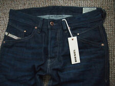 Diesel Indigo, Dark wash Mid Rise Skinny, Slim Jeans for Men