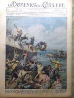 La Domenica del Corriere 30 Agosto 1936 Rivolta in Spagna Don Bosco Vitelleschi