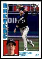 2019 TOPPS 1984 DESIGN CARD CHRISTIAN YELICH MILWAUKEE BREWERS #T84-64