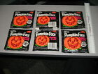 Fleer PUMPKIN FACE vintage bubble gum (1 pack) 1970s-1980s halloween candy