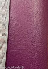 DARK PINK FAUX LEATHER SOFT FABRIC for UPHOLSTERY SEAT STOOL BOOK JACKET BTY