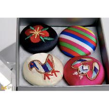 Korean Traditional Embroider Magnet Gift Set Magnetic Memo Holder Silver Case