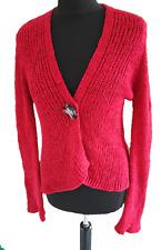 PER UNA RED KNIT CARDIGAN - UK Size 8 / 10 - S