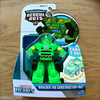 Transformers RESCUE BOTS BOULDER Rescan DUMP TRUCK New PLAYSKOOL HEROES Hasbro