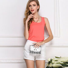 Fashion Womens Chiffon Sleeveless Vest Loose Casual Shirt Tops Blouse Comfort