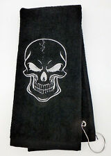 Personalized Embroidered Golf/Bowling Towel The Skull