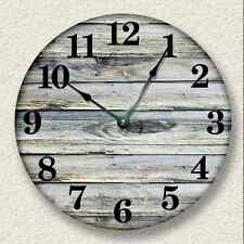 OLD WEATHERED BOARDS Wall Clock - Rustic Cabin Country Wall Home Decor - 7001