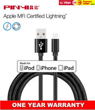 Apple MFI Authentic Lightning Charger Adapter Cable 3M Braided For iPhone iPad