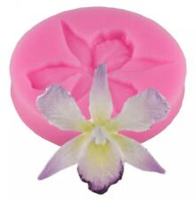 ORCHID FLOWER SILICONE MOULD-FONDANT ICING/CHOCOLATE MOLD-SUGARPASTE/CAKE/FIMO