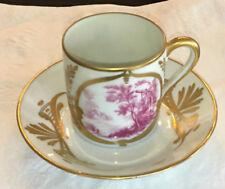 LIMOGES FRANCE vintage demitasse cup & saucer