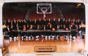 "Vintage Nike NBA Poster, Board Room, 36"" x 22"", EX"