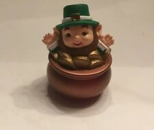 Hallmark Merry Miniature 1994 Leprechaun in Pot of Gold - St. Patrick's Day- New