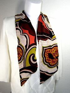 Schicker Damen Schal Tuch Halstuch im Retro Style 130 x 30 cm  NEU