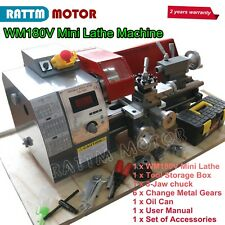 Mini Metal Turning Thread Lathe Machine Wood Drilling Woodworking With 600w Motor