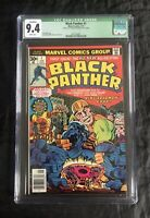 BLACK PANTHER #1 CGC 9.4 (1/77) WHITE PAGES QUALIFIED GREEN LABEL KING KIRBY!