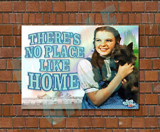 THERE'S NO PLACE LIKE HOME - WIZARD OF OZ - JUDY GARLAND - METAL SIGN PLAQUE