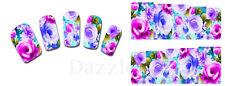 Nail Art de transferencia Pegatinas Calcomanías de agua etiqueta engomada arte Decorativo Flores (DX1388)