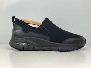 Skechers Arch Fit Banlin Mens Black Mesh Trainers UK Size 8