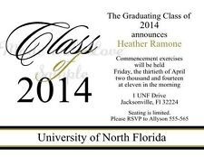 2014 HIGH SCHOOL COLLEGE UNIVERSITY GRADUATION INVITATIONS PARTY *ANY COLOR
