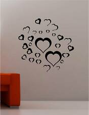 LOVE HEARTS  wall art sticker vinyl DECAL BEDROOM
