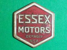 "1925 circa ESSEX MOTORS EMBLEM DETROIT USA RED WHITE & GOLD LETTERS HEXAGON 1 ¾"""
