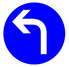 ROAD SIGNS (TURN LEFT AHEAD) -  NOVELTY FRIDGE MAGNET - BRAND NEW