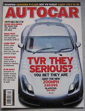 Autocar 30/12/2003 featuring Top 10 Cars, BMW 645 Ci, TVR