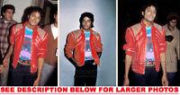 MICHAEL JACKSON 1984 in BEAT IT JACKET 3xRAR8x10 PHOTOS