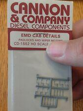 Cannon & Company #1552 EMD Cab Details (Padlocks & Wiper Motors) Plastic