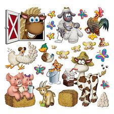 "Beistle Farm Animals Kids Childs Birthday Party Wall Decoration, 2-1/4""-35"", New"