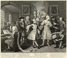 Hogarth Print Reproduction: A Rake's Progress: With Artists, #2: Fine Art Print