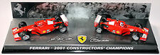 Ferrari 2001 F1 Constructors Champions Schumacher + Barrichello 1:43 Hot Wheels