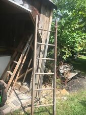 Antique Wood Ladder 6FT + Rustic Flowers Pots Pans Quilts primitive deco