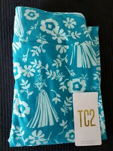 LuLaRoe TC2 Disney Princesses Flower Greenish/Blue Leggings - New! Free ship!
