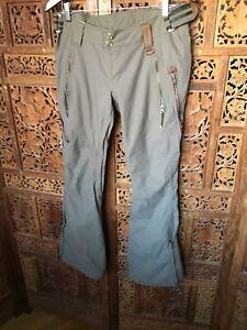Women's Taupe Chevron Holden Snowboard Pants, Skinny Style