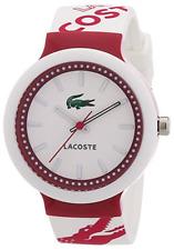 Designer Lacoste 2010523 Unisex Ladies Mens Goa Pink and White Strap Watch NEW