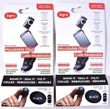 (6 Packs Total) SUGRU Multi-Purpose Mouldable Glue Black 5g Each (2 Packs of 3)