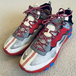 Nike Trainers UK10 Sneakers Red White Blue Grey