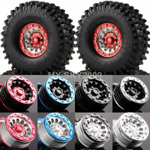 "4pcs 1/10 RC Rock Crawler 1.9"" Metal Wheel rims & 120mm Swamper Rocks 1060-7037"